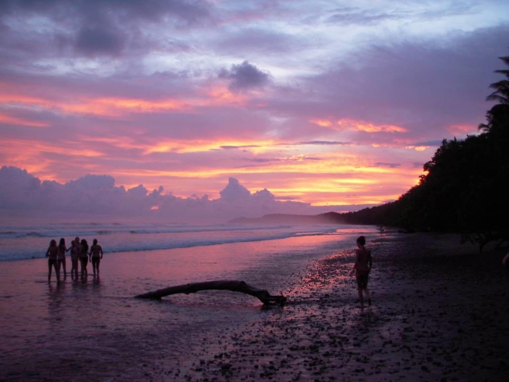 The Painted Sky of the Costa Rican Sunset on ARCC's Costa Rica summer program for teens