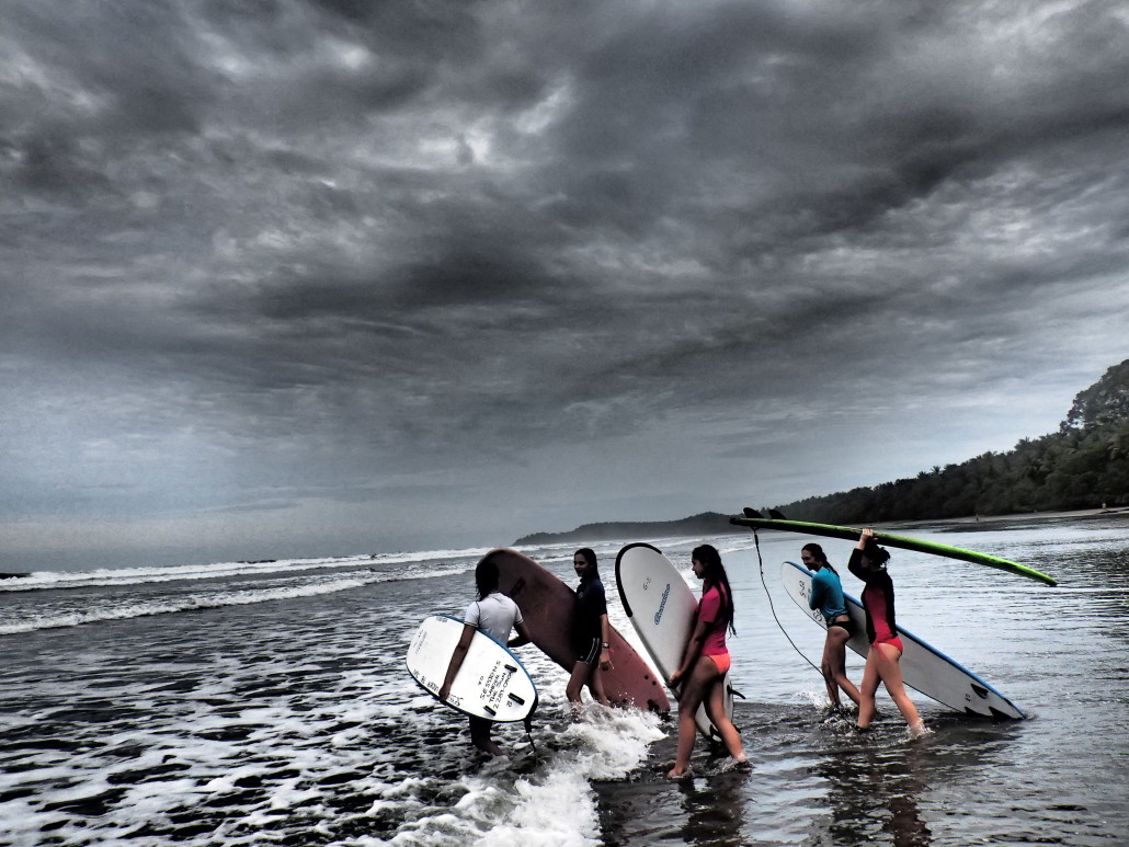 Surfing in the Pacific Ocean on ARCC's Costa Rica Summer Program