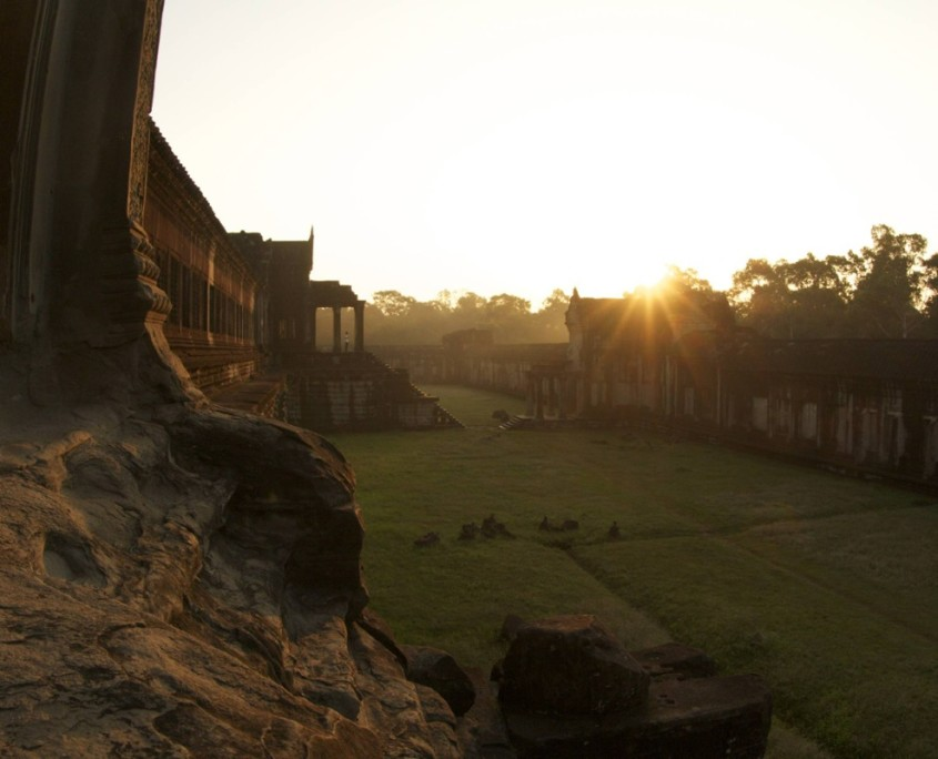 Sunrise at Angkor Wat during ARCC's Cambodia trip for teens