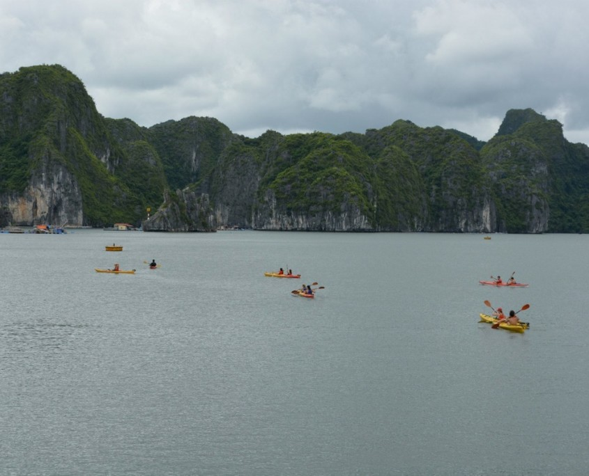 Kayaking Halong Bay with ARCC Progams | Photo by Julia Farnham