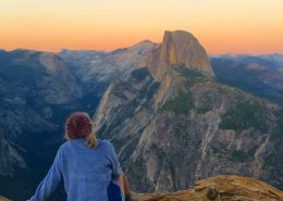 California Service - Watching Sunset at Half Dome