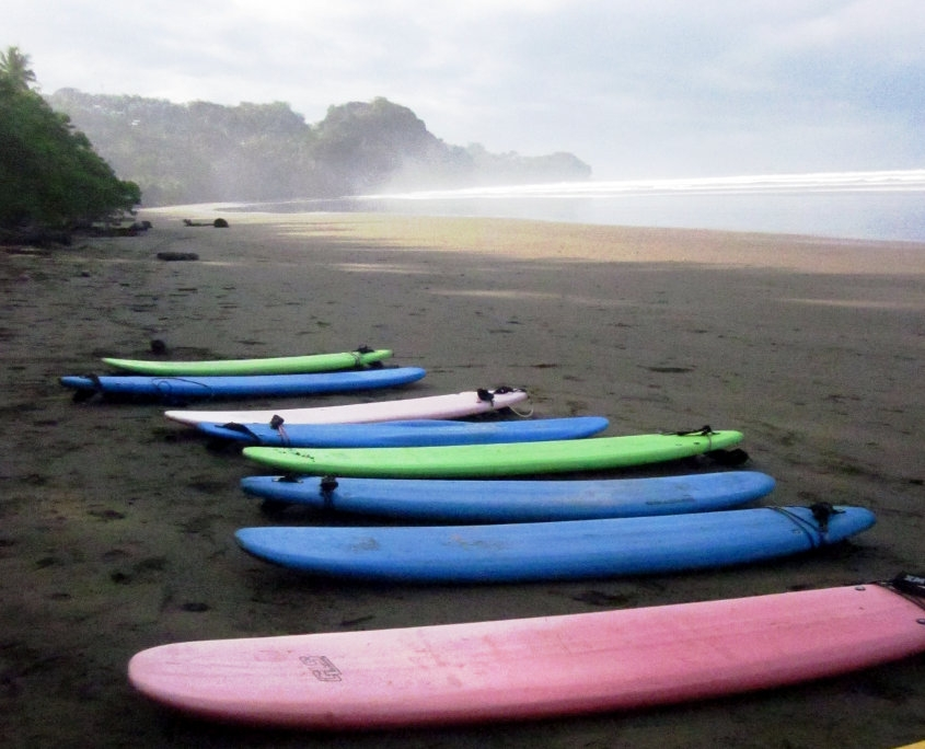 Surfboards on the Pacific Coast