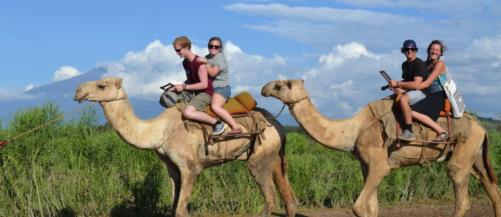 ARCC Gap Year - Students Riding Camels