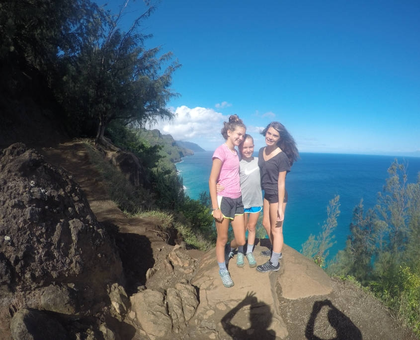 ARCC Middle School Students Hiking the Na Pali Coast