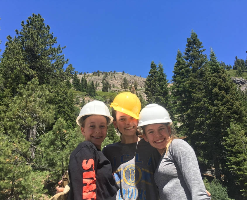 ARCC students Volunteering in the Lake Tahoe Area