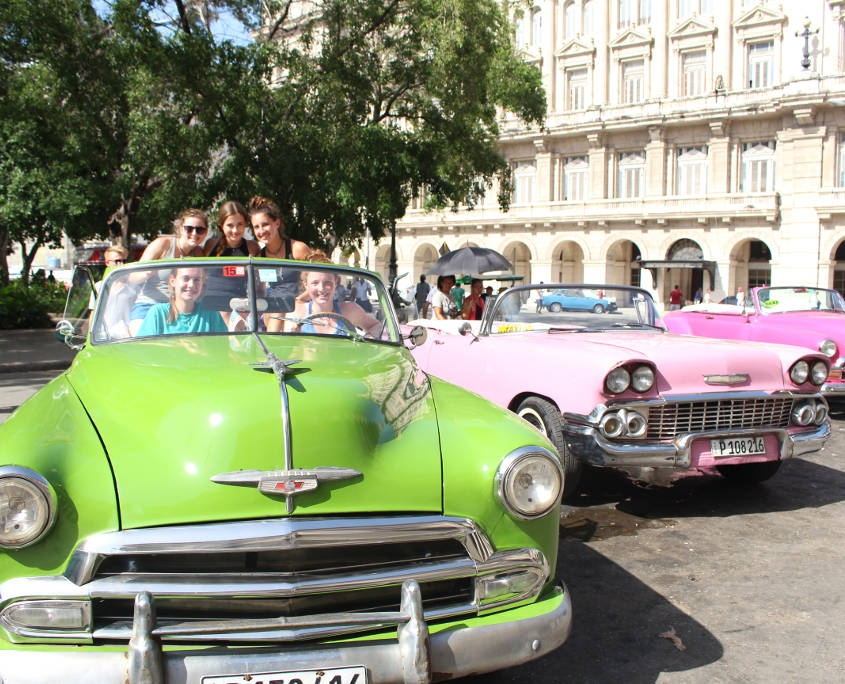 Checking out the Classic Cars on the Cuba Trip