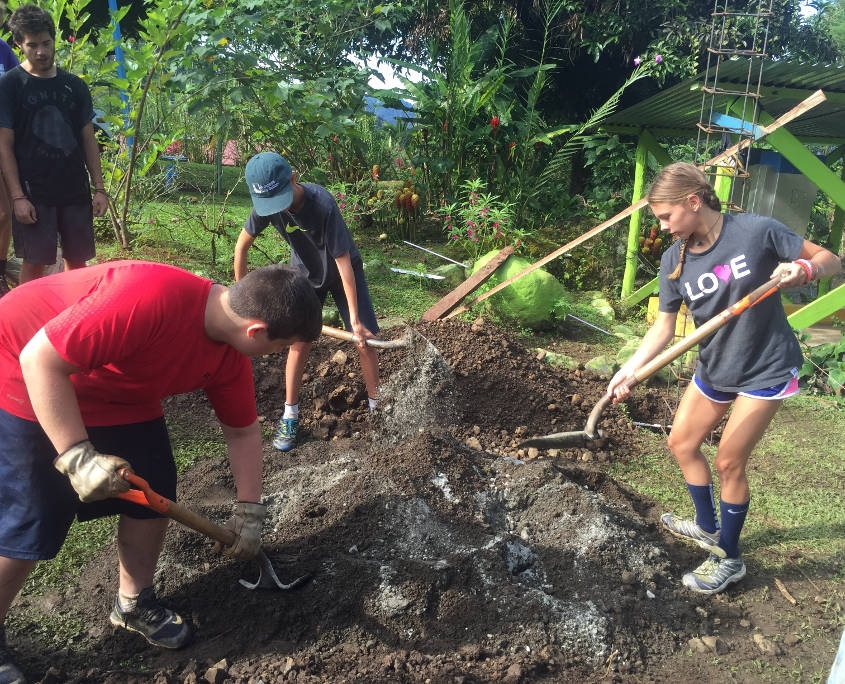 Helping out with Roads in a Local Community in Costa Rica
