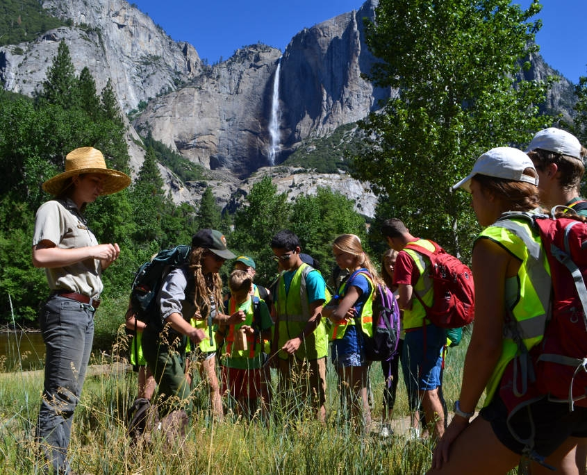 Working with Rangers in Yosemite NP on The Califormia Program for Middle School Students